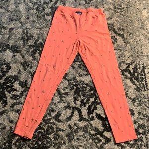 Girls coral leggings